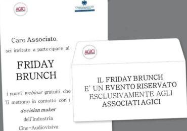 """AGICI LANCIA IL """"FRIDAY BRUNCH"""""""